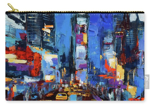 Saturday Night In Times Square Carry-all Pouch