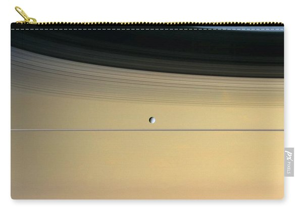 Saturn And Its Moon Dione Carry-all Pouch