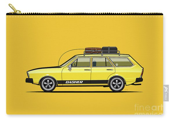 Saturn Yellow Volkswagen Dasher Wagon Carry-all Pouch