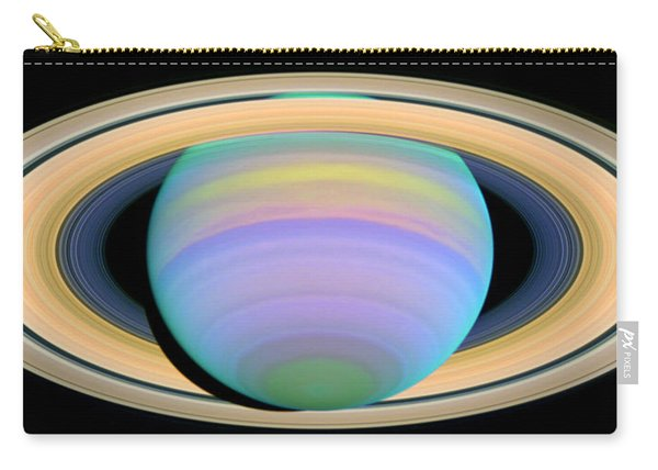 Saturn's Rings In Ultraviolet Light Carry-all Pouch