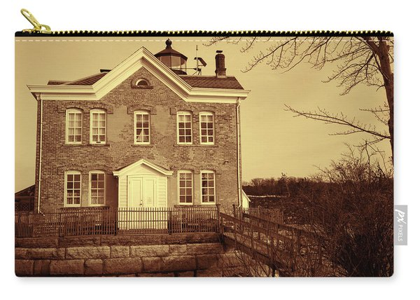 Saugerties Lighthouse Sepia Carry-all Pouch