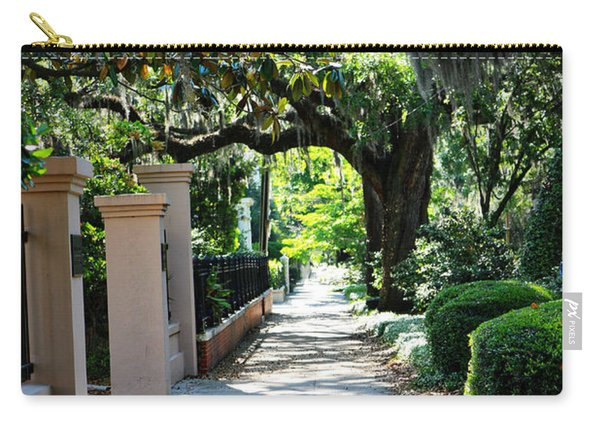 Savannah Sidewalk With Magnolia Tree Carry-all Pouch