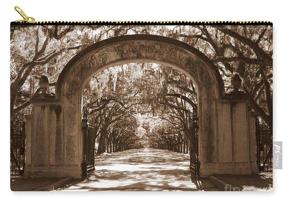 Savannaha Sepia - Wormsloe Plantation Gate Carry-all Pouch