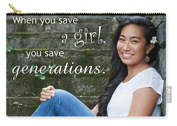 Save A Girl Carry-all Pouch