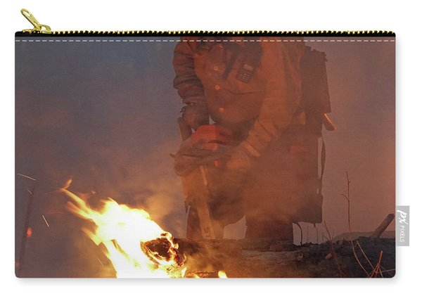 Carry-all Pouch featuring the photograph Sawyer, North Pole Fire by Bill Gabbert