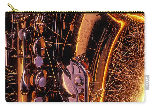 Sax With Sparks Carry-all Pouch