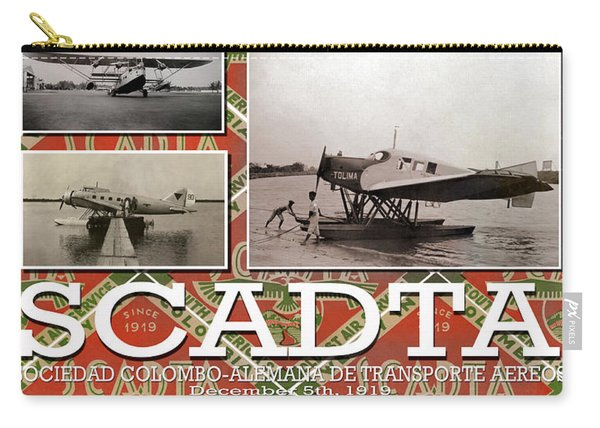 Scadta Airline Poster Carry-all Pouch