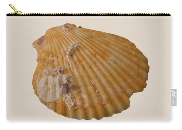 Scallop Shell With Guests Transparency Carry-all Pouch