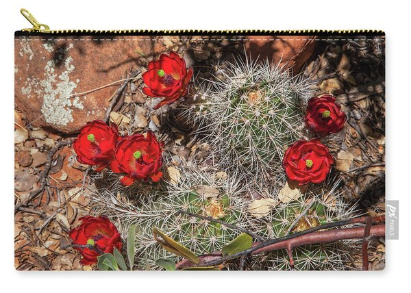 Scarlet Cactus Blooms Carry-all Pouch