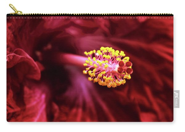 Scarlet Hibiscus Carry-all Pouch