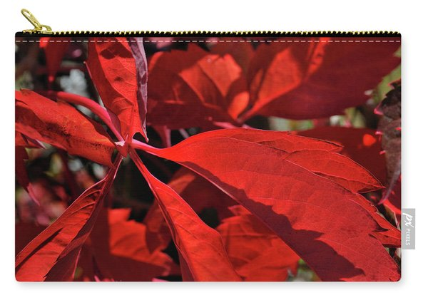 Carry-all Pouch featuring the photograph Scarlet Intensity by Ron Cline