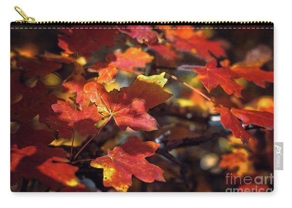 Carry-all Pouch featuring the photograph Scarlet September by Susan Warren