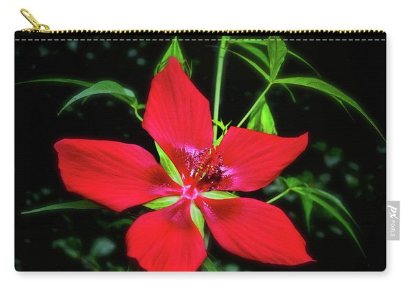 Scarlet Rose Mallow - Hibiscus Coccineus 005 Carry-all Pouch