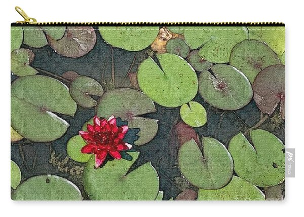 Scarlet Waterlily Carry-all Pouch