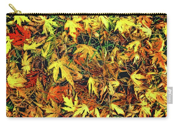Scattered Autumn Leaves Carry-all Pouch