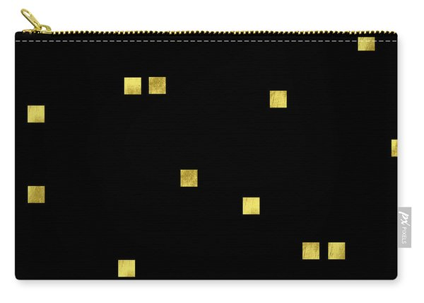 Scattered Gold Square Confetti Gold Glitter Confetti On Black Carry-all Pouch