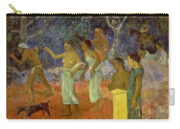 Scene From Tahitian Life Carry-all Pouch