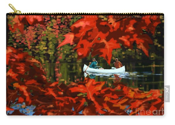 Scenic Autumn Canoe  Carry-all Pouch