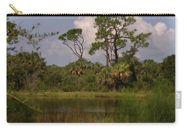 Scenic View Of Trees And A Pond Carry-all Pouch