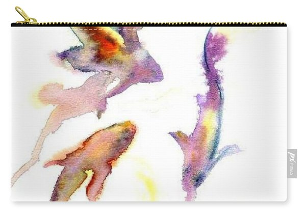 Carry-all Pouch featuring the painting School En Plein Aire by Ashley Kujan