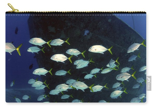 School Of Horse-eye Jack Fish Swmming Carry-all Pouch