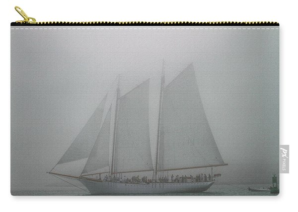 Schooner In Fog Carry-all Pouch
