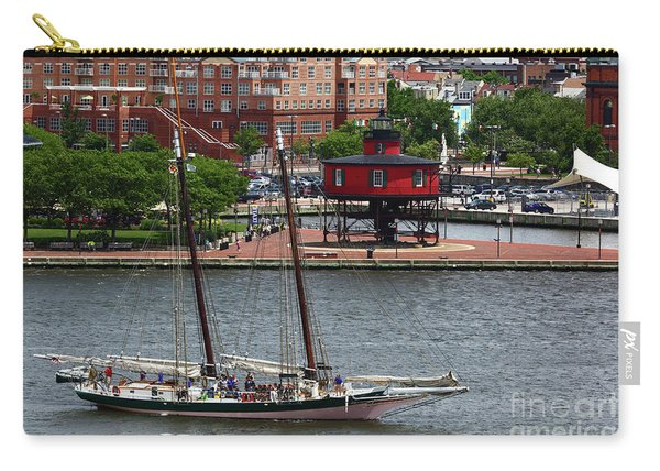 Schooner Lady Maryland Leaving Inner Harbor Baltimore Carry-all Pouch
