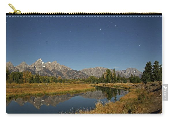 Carry-all Pouch featuring the photograph Schwabacher's Landing In Moonlight by Jean Clark