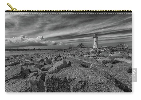 Scituate Lighthouse From The End Of The Jetty Carry-all Pouch