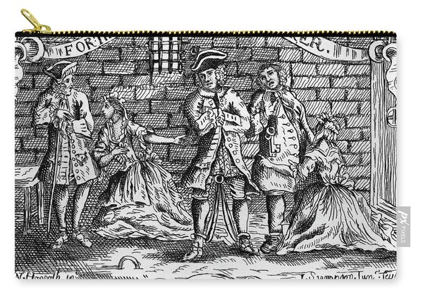 Scnene From The Beggar 's Opera By John Gay Carry-all Pouch