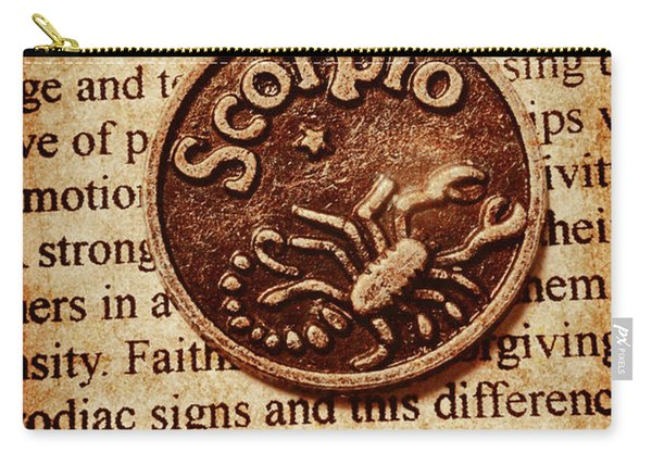 Scorpio Parchment Carry-all Pouch