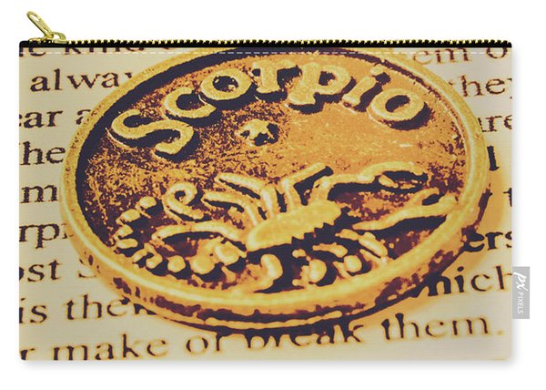 Scorpio Star Sign Token Carry-all Pouch