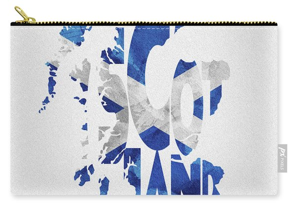 Scotland Typographic Map Flag Carry-all Pouch