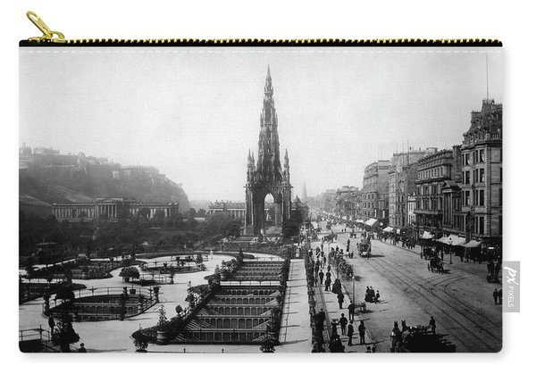 Scott Monument On Princes Street And Castle Carry-all Pouch