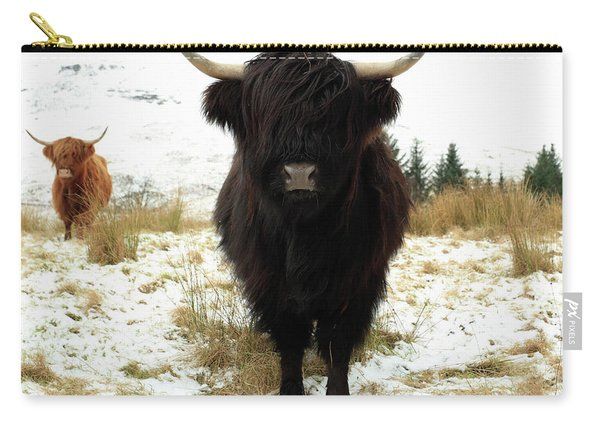 Scottish Black Highland Coo Carry-all Pouch