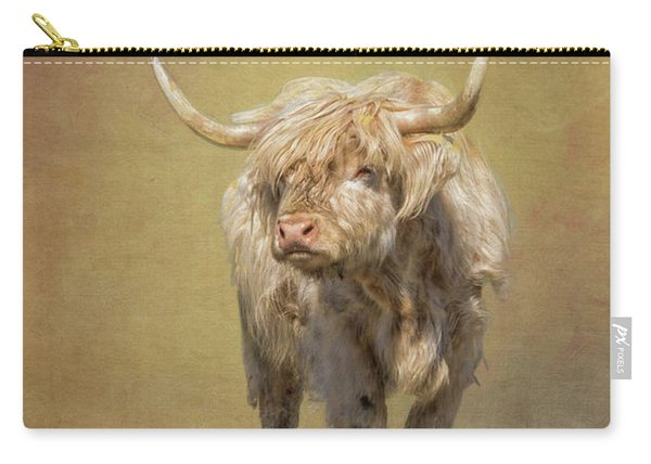 Carry-all Pouch featuring the photograph Scottish Highlander by Tom Singleton