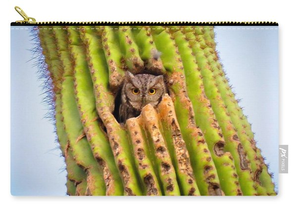 Screech Owl In Saguaro Carry-all Pouch