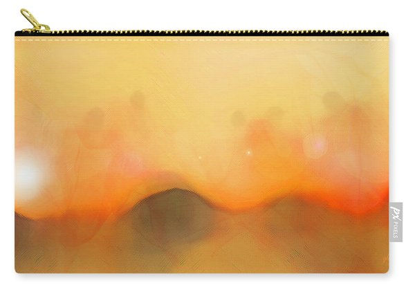 Carry-all Pouch featuring the digital art Scrim by Gina Harrison