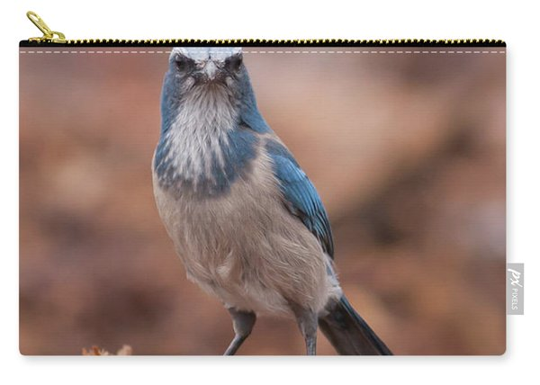 Scrub Jay On Chop Carry-all Pouch