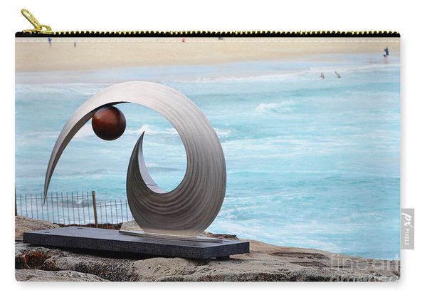 Sculpture By The Sea - Balance And Curves  - Photograph By Kaye Menner Carry-all Pouch