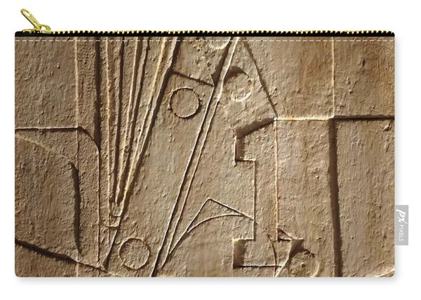 Sculptured Panel - Influenced By Picasso's Painting Having The Number 1 Carry-all Pouch