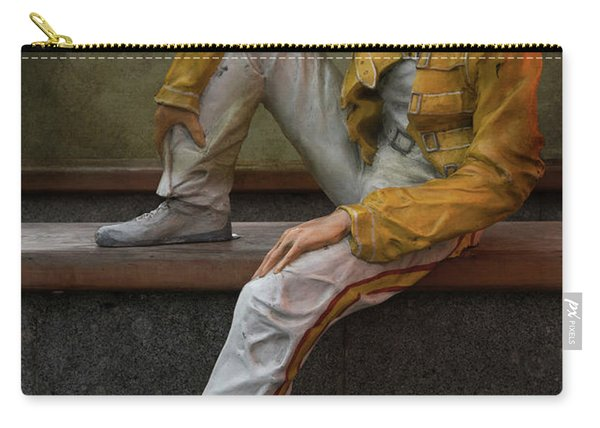 Carry-all Pouch featuring the photograph Sculptures Of Sankt Petersburg - Freddie Mercury by Jaroslaw Blaminsky