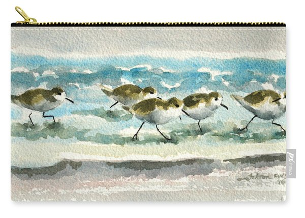 Scurrying Along The Shoreline 2  1-6-16 Carry-all Pouch
