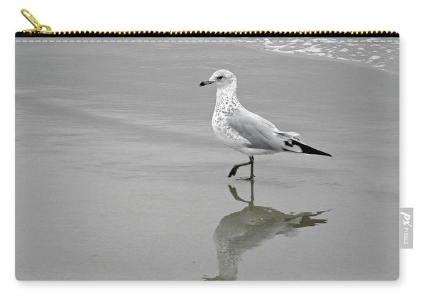 Sea Gull Walking In Surf Carry-all Pouch