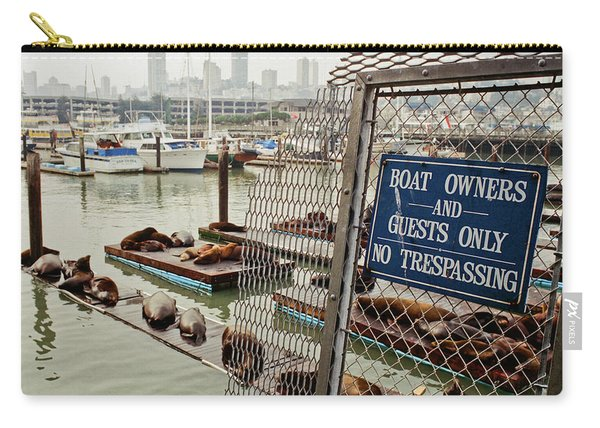 Sea Lions Take Over, San Francisco Carry-all Pouch