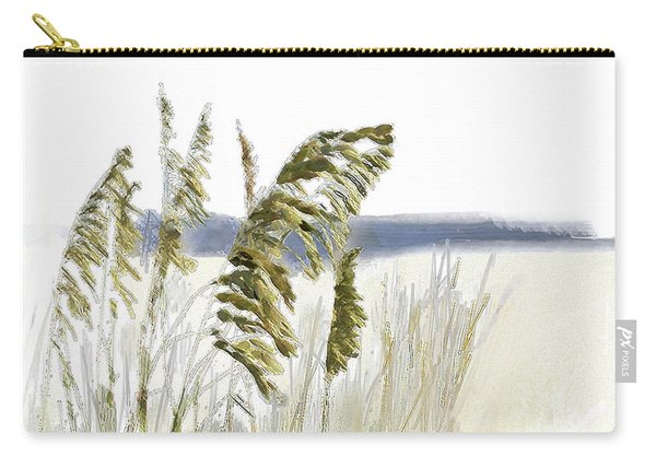 Carry-all Pouch featuring the digital art Sea Oats by Gina Harrison