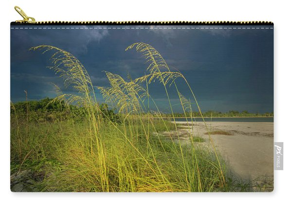 Sea Oats In The Storm Carry-all Pouch
