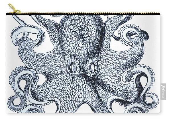 Sea Octopus Coastal Decor Carry-all Pouch