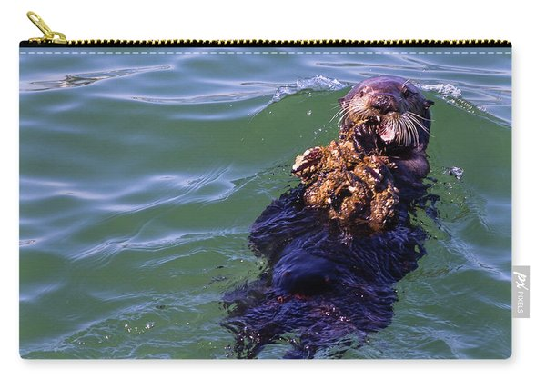 Sea Otter With Lunch Carry-all Pouch