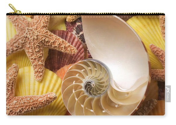 Sea Shells And Starfish Carry-all Pouch
